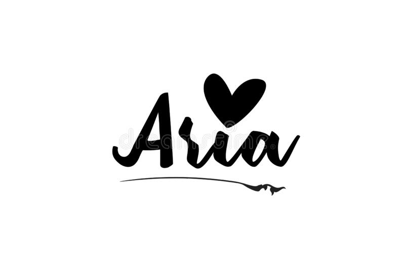 Name Aria In The Vector For Use In Various Purposes Stock ...
