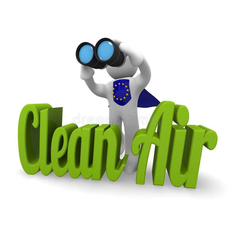 aria pulita dell'europeo di concetto 3d illustrazione vettoriale