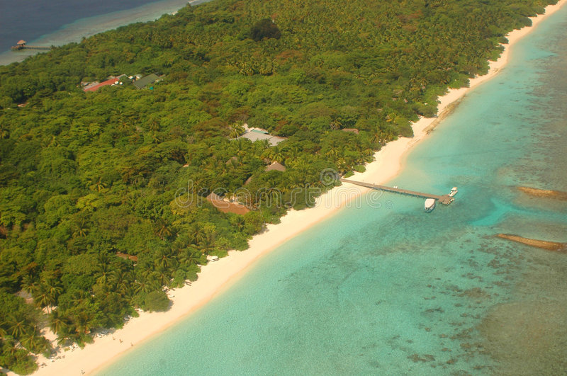 Download Arial View Of An Island Stock Photography - Image: 518712
