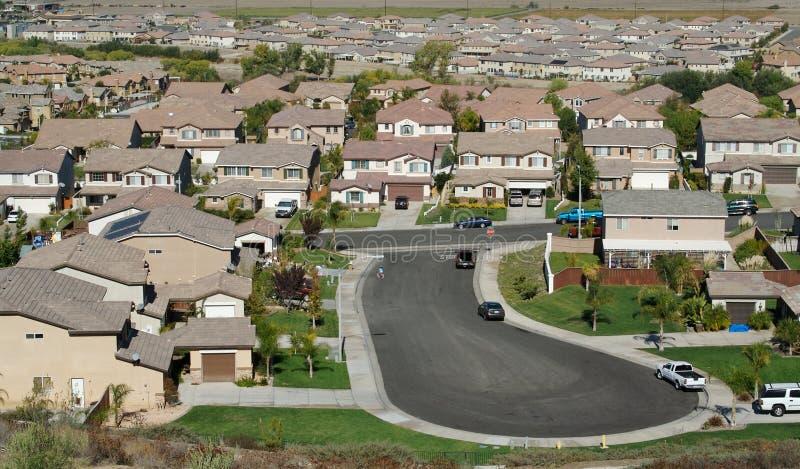 Arial View of New Neighborhood stock photos