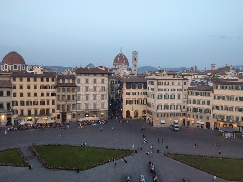 Arial view of piazza di Santa Maria Novella. Florence royalty free stock photography