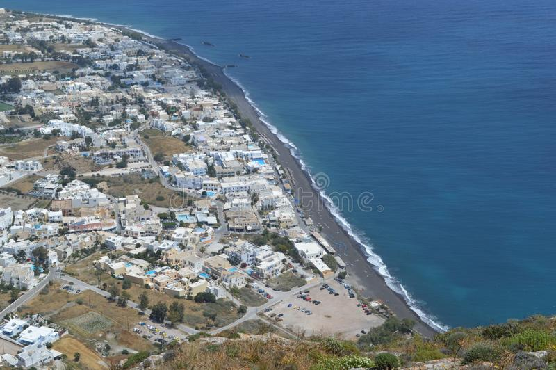 Arial View of Santorinis city. Greece, Europe stock photo