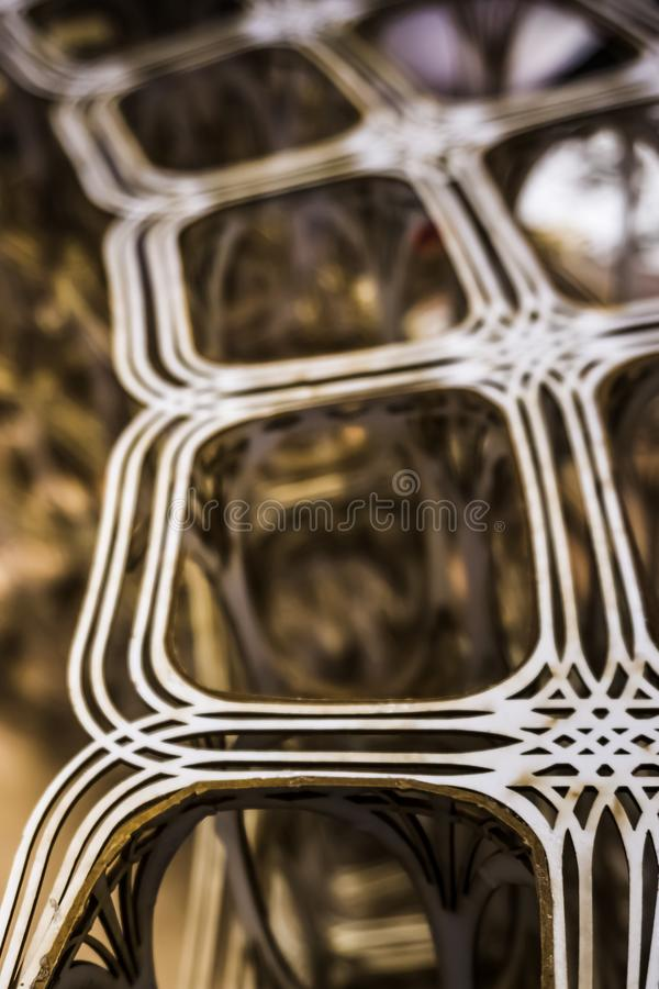 Arial view of three dimensional layered road system model. Arial view of three dimensional 3D layered road system model with bokeh royalty free stock images