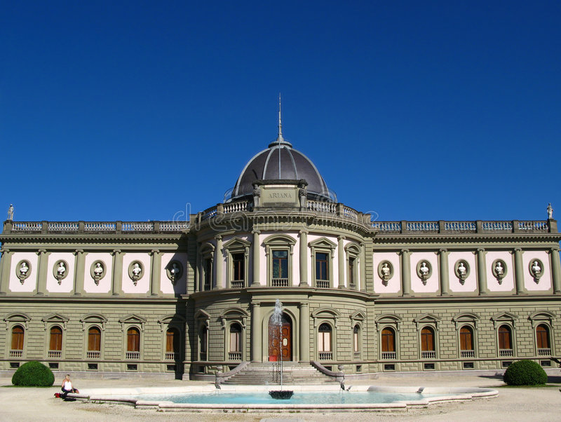 Ariana Museum, 01, Genf, die Schweiz stockfotos