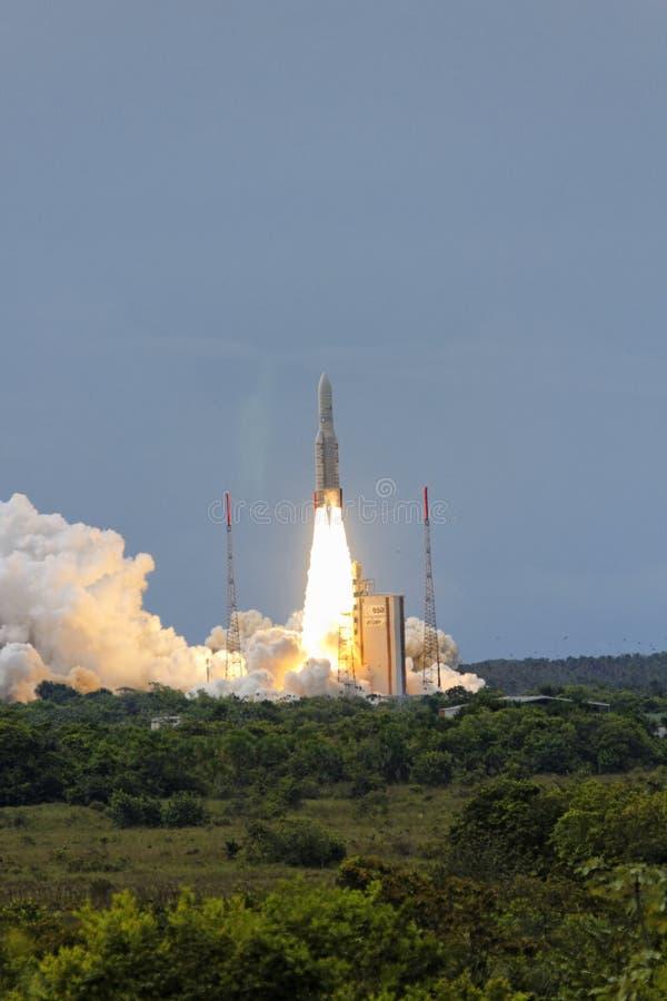Ariane 5 start stock foto's