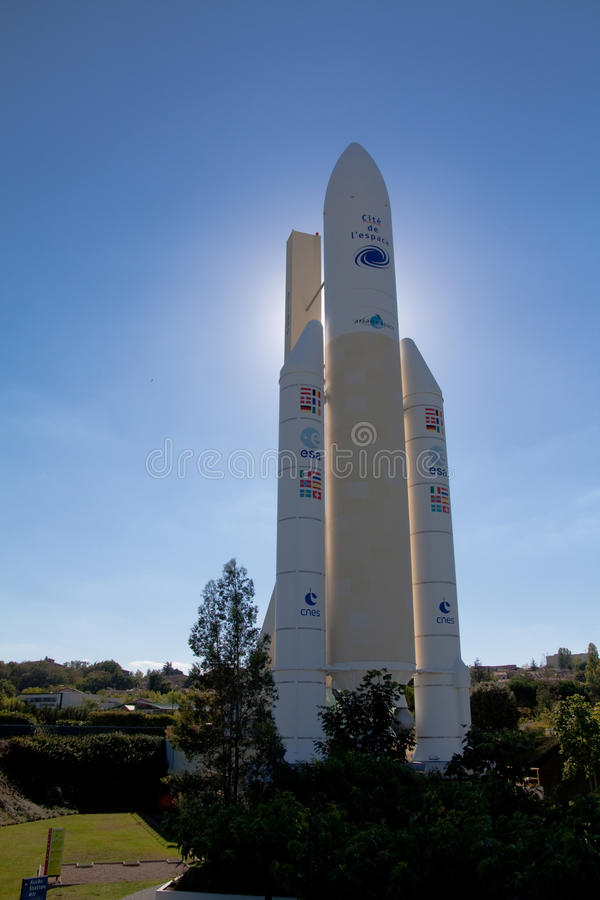 Ariane raket royalty-vrije stock foto's