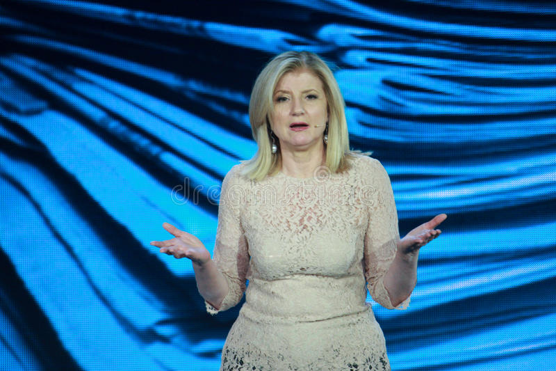 Arianna Huffington at Microsoft Convergence royalty free stock image