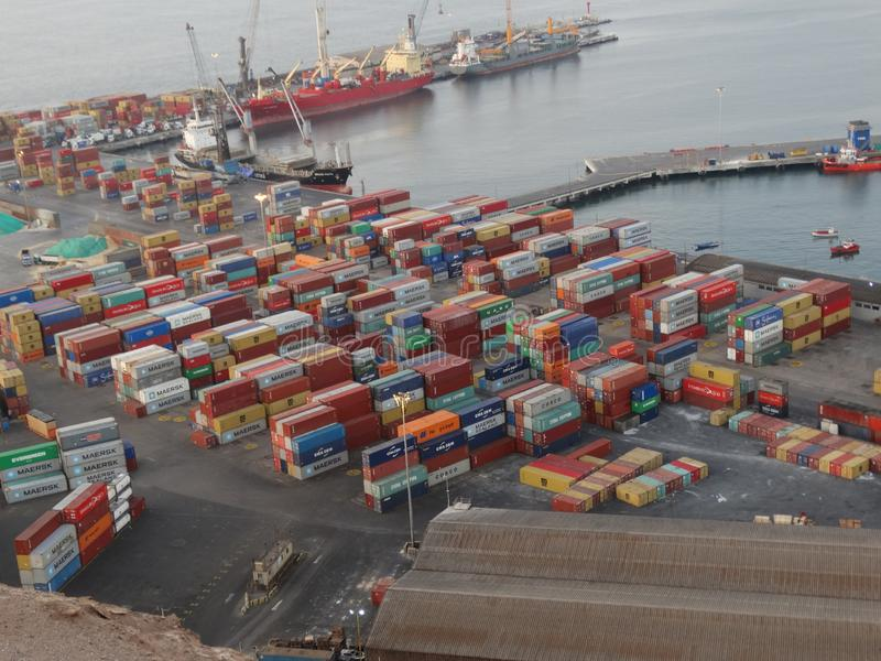Arica terminal de puerto photo stock