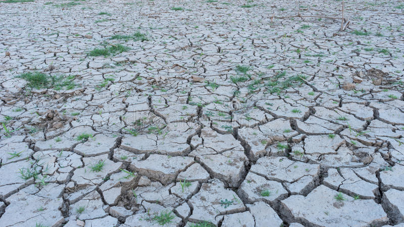 Arid areas of the country due to natural disasters. Thailand royalty free stock photos