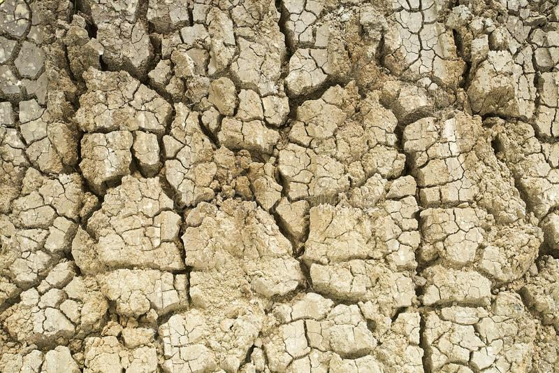 Aridity land the ground cracks. Arid land detail - Aridity land the ground cracks stock photo