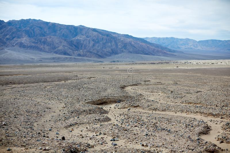 Arid landscape of Death Valley National Park, USA royalty free stock photo