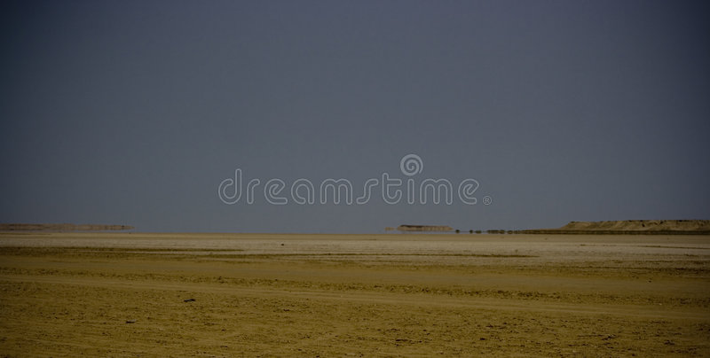 Download Arid Landscape With Mirage Stock Photography - Image: 3275482