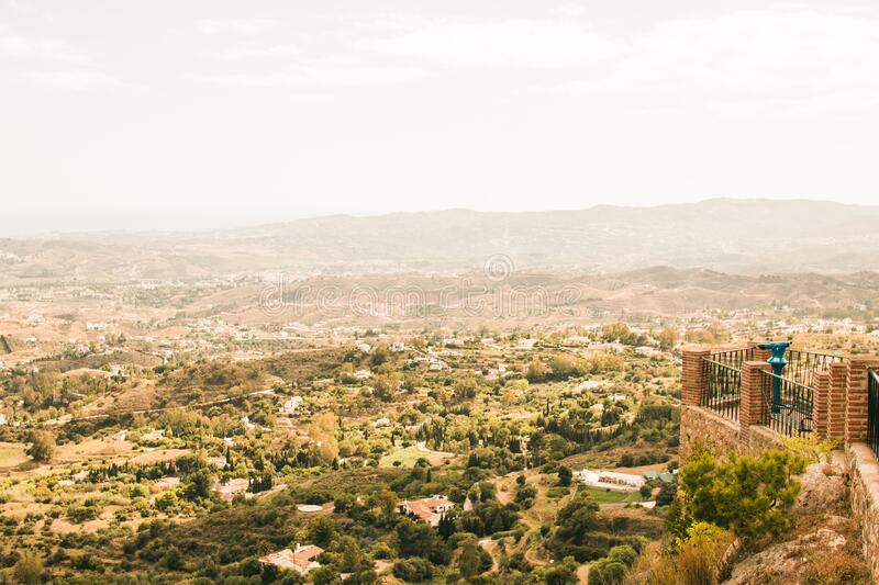 Arid landscape viewed from city walls stock photography