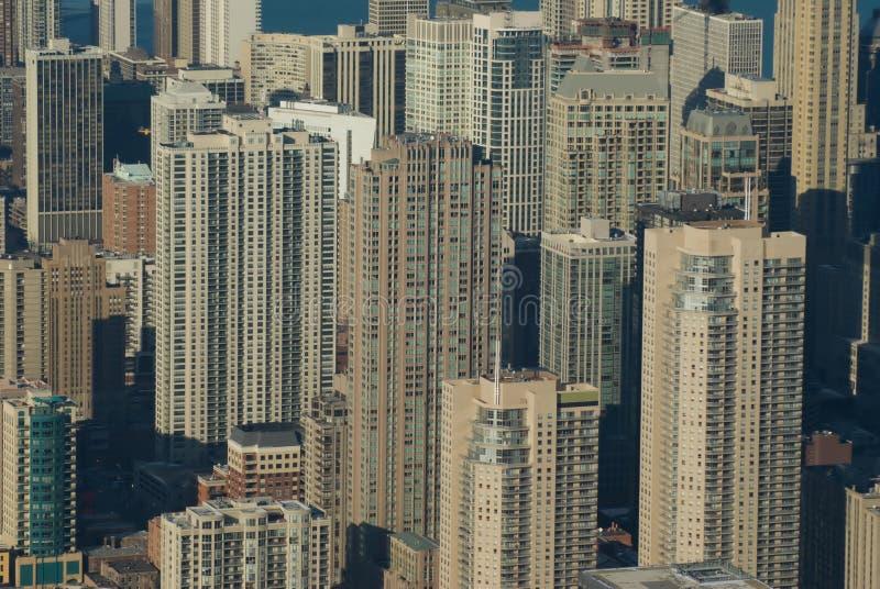 ariel芝加哥视图冬天 免版税库存照片