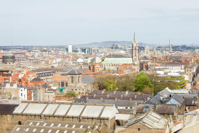 Ariel-Ansicht von Dublin lizenzfreies stockfoto