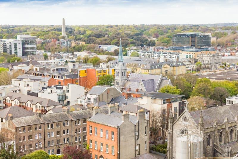 Ariel-Ansicht von Dublin stockfotografie