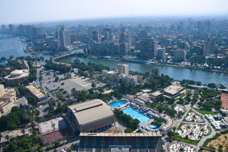 Ariel-Ansicht von Kairo-Turm lizenzfreies stockfoto