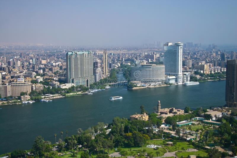 Ariel-Ansicht von Kairo-Turm stockfotografie