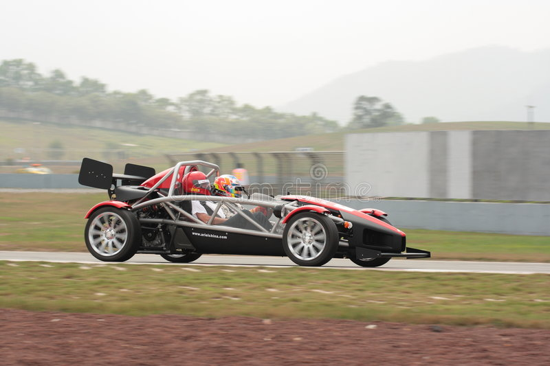 ARIEL ATOM III. Have a run in the hotlaps during the session Track Entertainment Activities royalty free stock images