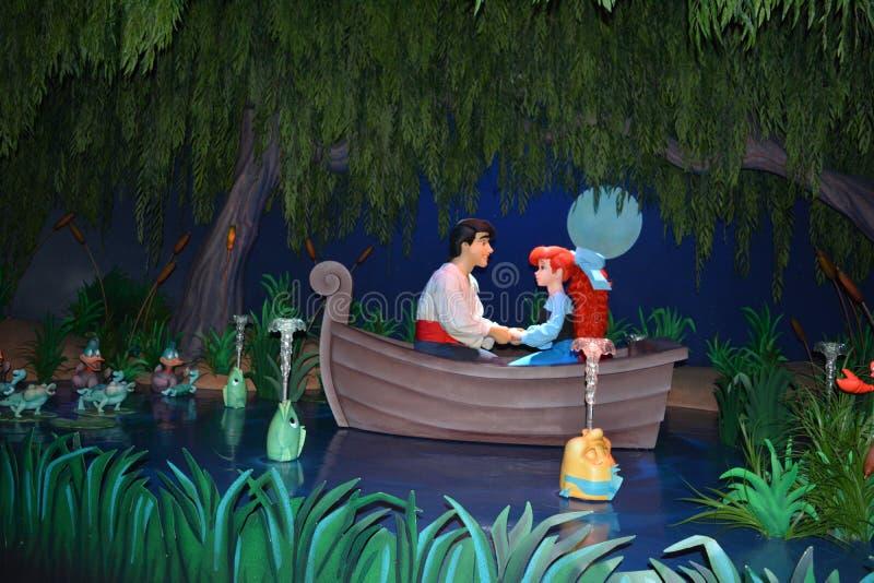 Ariel et Éric - royaume magique Walt Disney World image stock