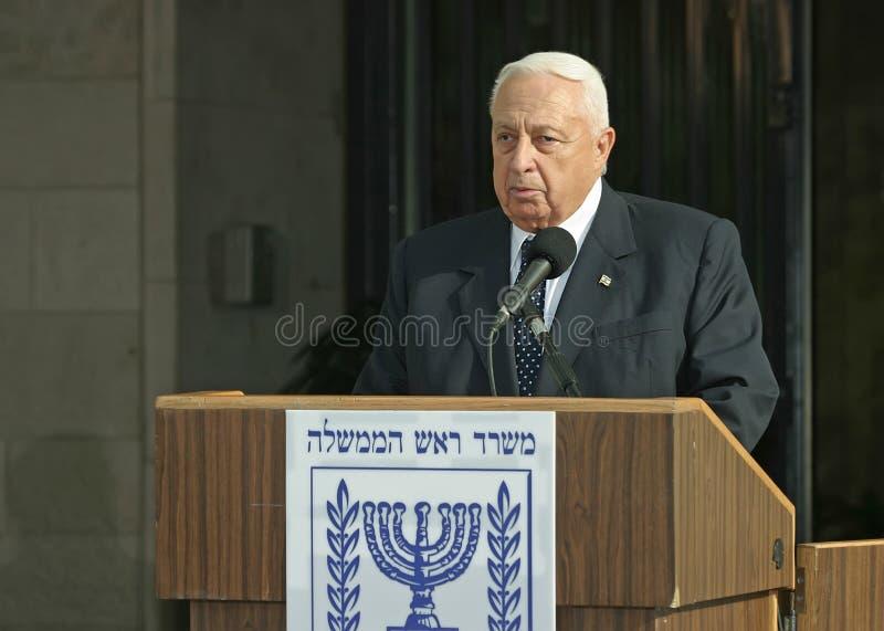 Ariel Sharon foto de archivo