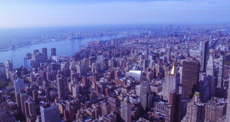 Ariel sikt av newyork från väldetillstånd royaltyfri foto