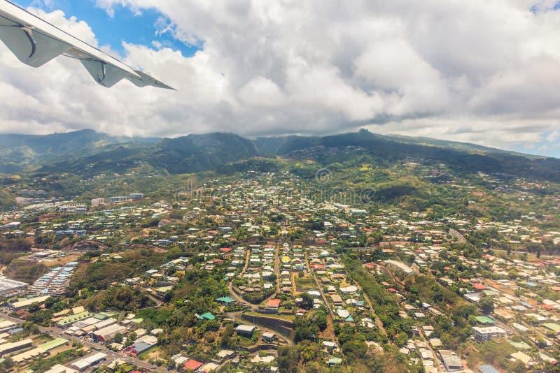 Ariel vie της πρωτεύουσας της Ταϊτή, Papeete, γαλλική Πολυνησία στοκ εικόνες με δικαίωμα ελεύθερης χρήσης