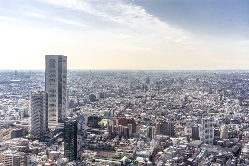 Ariel View da cidade do Tóquio, Japão imagem de stock royalty free