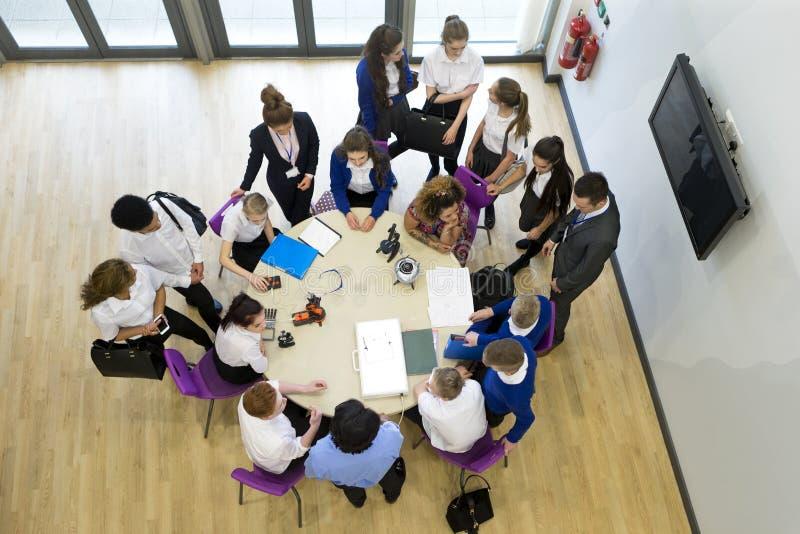 Ariel View der Technologie-Lektion stockfoto