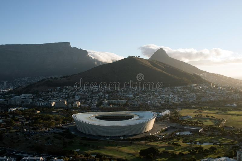Ariel View do estádio de Cape Town fotos de stock royalty free