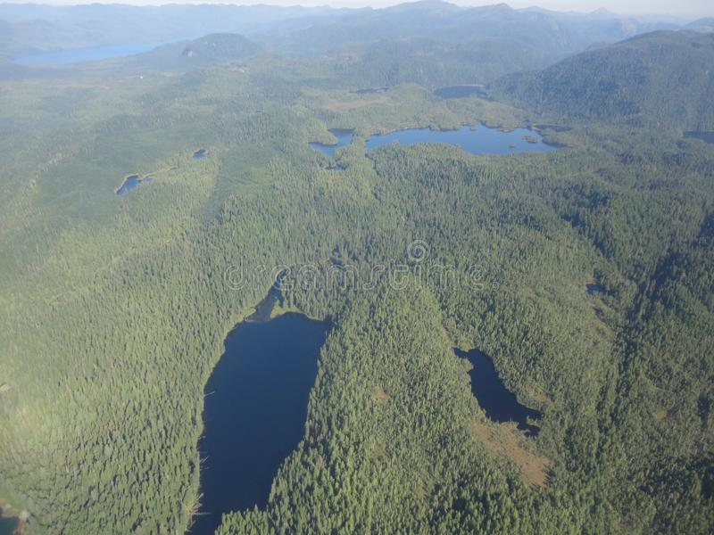 Ariel View of Misty Fjords in Ketchikan Alaska Tongass National Forest stock photo