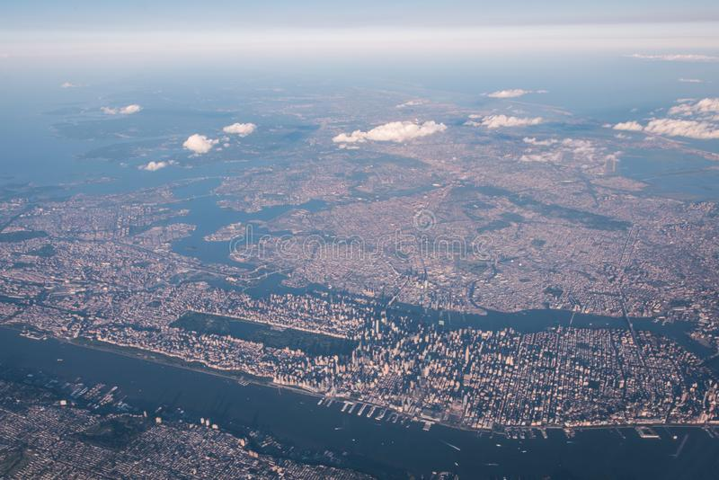 Ariel view of New York stock image