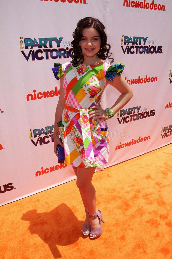 Ariel Winter. At the iParty with Victorious Premiere Event, The Lot, Hollywood, CA. 06-04-11 stock photography