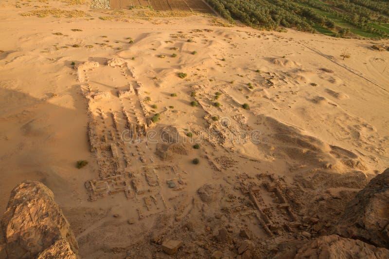 Ariela widok rujnująca świątynia przy jebel barkal fotografia royalty free