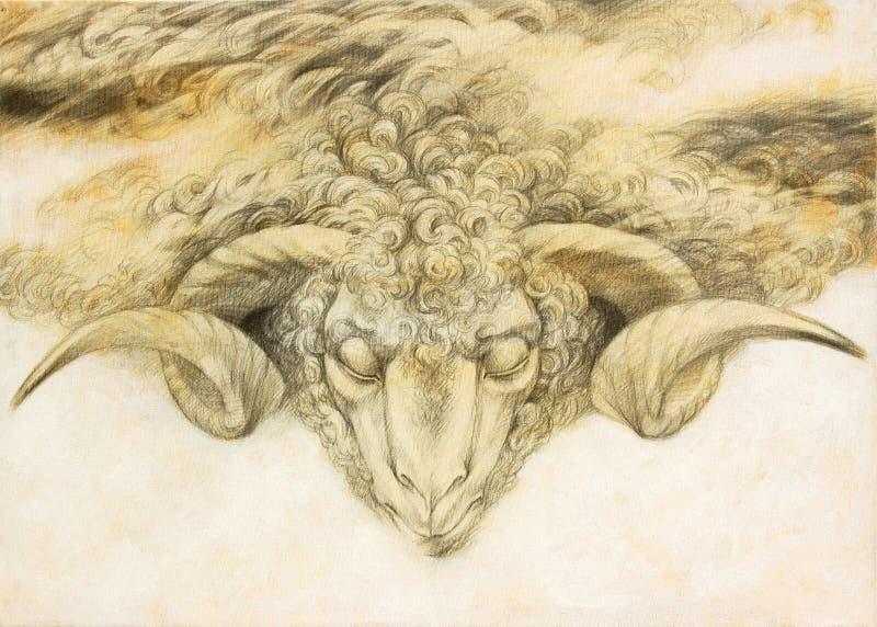Aries ilustração do vetor