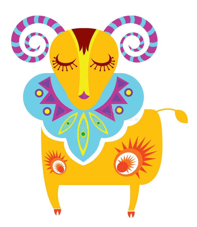 Download Aries stock vector. Illustration of cute, aries, fashion - 11565461