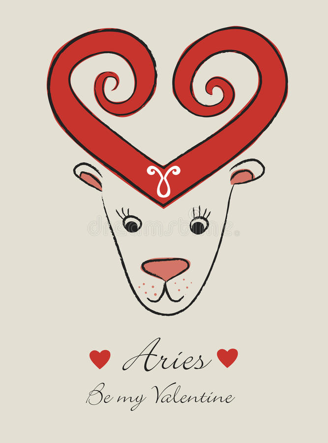 Aries stock de ilustración