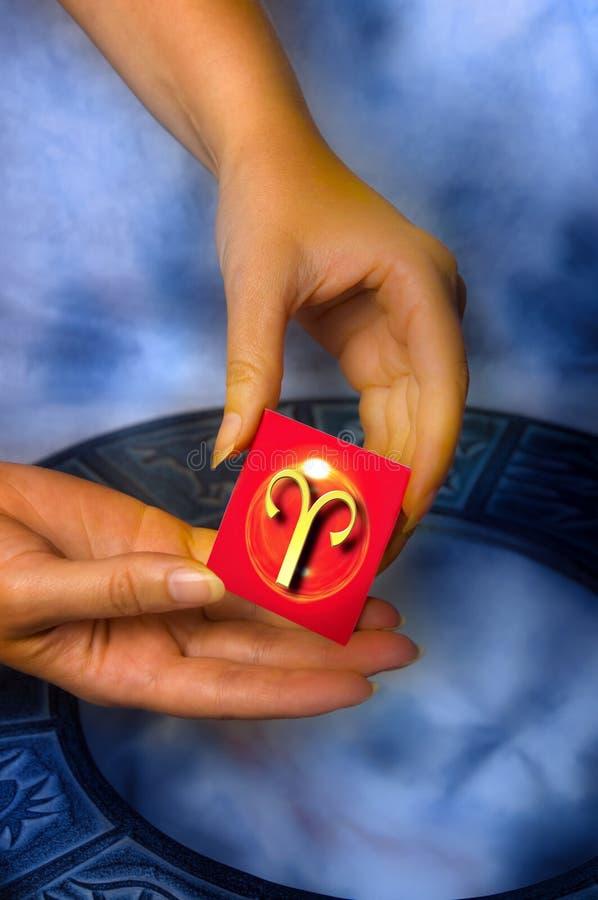 Aries astrologico del segno fotografia stock