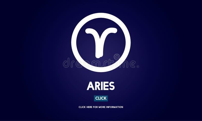 Aries Astrology Horoscope Zodiac Concept stock de ilustración