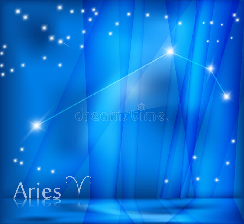 Aries Background vector illustration