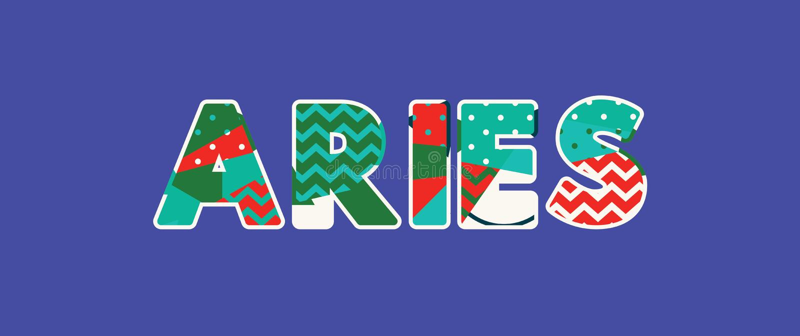 Aries Concept Word Art Illustration ilustração royalty free
