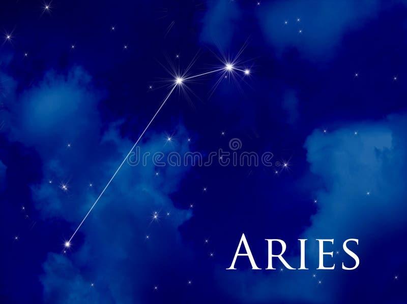 Aries de la constelación ilustración del vector