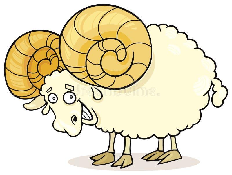 Aries del zodiaco stock de ilustración