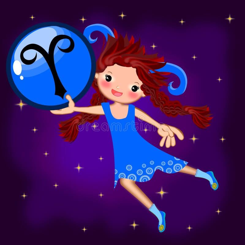 Aries do sinal do zodíaco ilustração do vetor