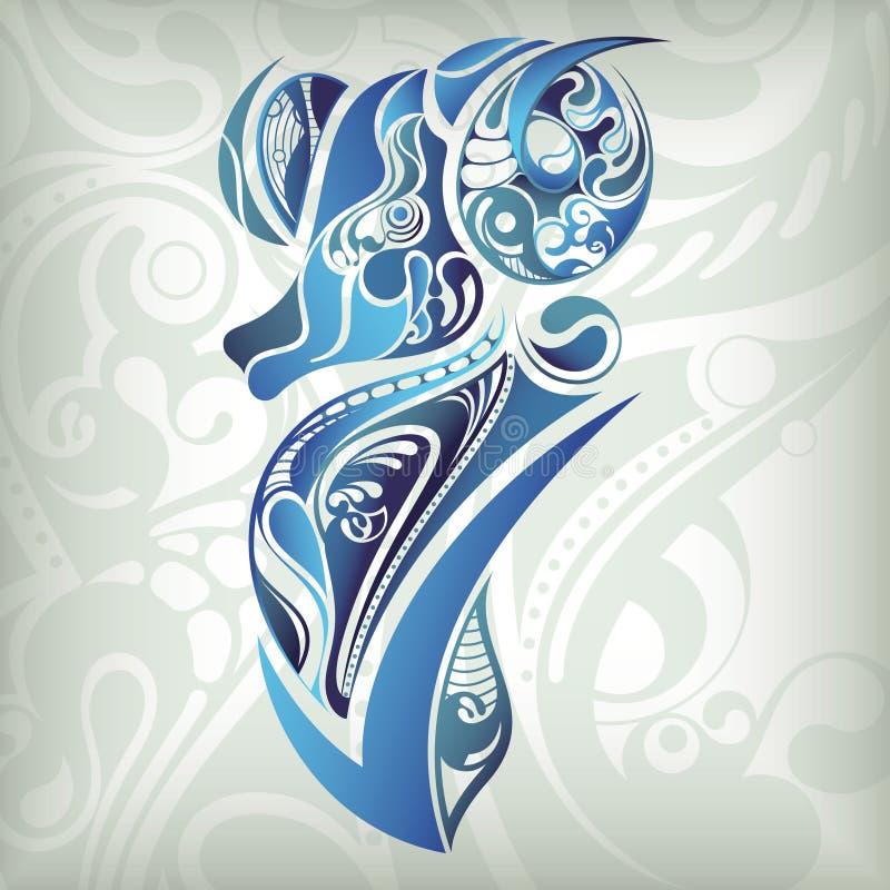 Aries do zodíaco ilustração do vetor