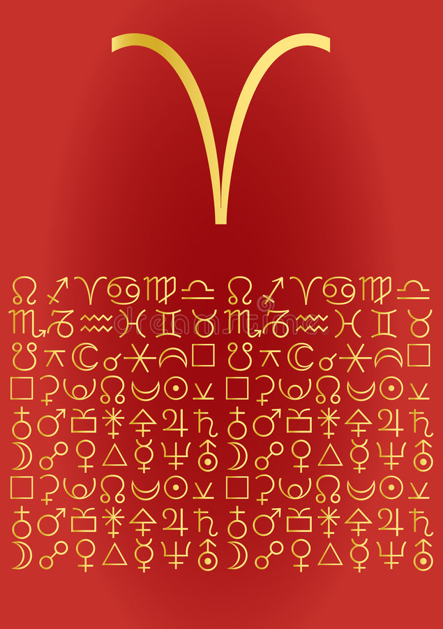 Download Aries, greeting card stock vector. Image of fortune, greetings - 2630781