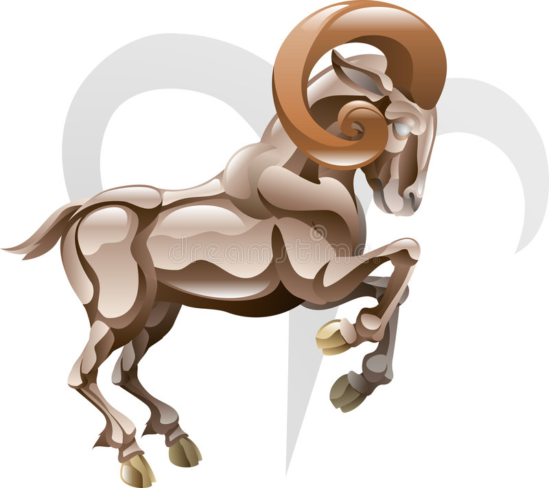 Aries the ram star sign vector illustration