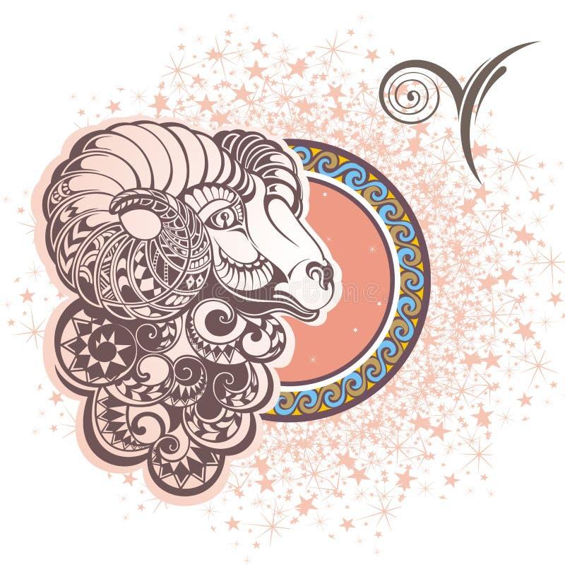 aries Segno dello zodiaco illustrazione vettoriale