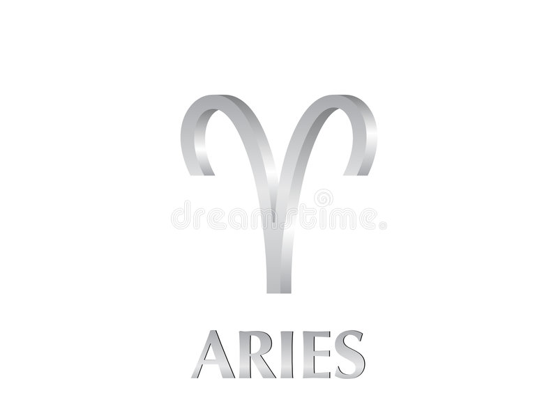 Aries sign stock illustration