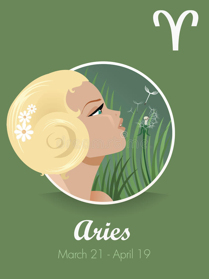 Aries sign vector stock illustration